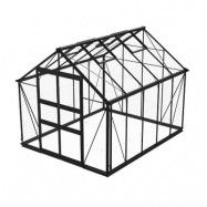 Växthus Odla 8,2 - 9,8 m² 8,2 m², Svart, Glas