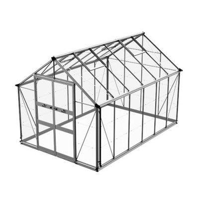 Växthus Odla 8,2 - 9,8 m² 9,8 m², Aluminium, Glas