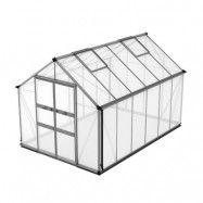 Växthus Odla 8,2 - 9,8 m² 9,8 m², Aluminium, Kanalplast