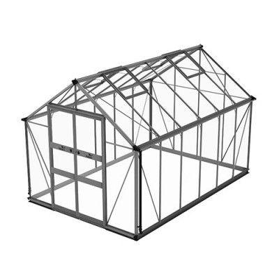 Växthus Odla 8,2–9,8 m² 9,8 m², Aluminium, Säkerhetsglas