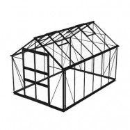 Växthus Odla 8,2 - 9,8 m² 9,8 m², Svart, Glas