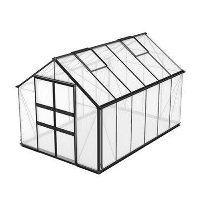 Växthus Odla 8,2–9,8 m² 9,8 m², Svart, Kanalplast
