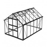 Växthus Odla 8,2–9,8 m² 9,8 m², Svart, Säkerhetsglas