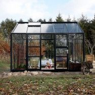 Växthus Spira 10,9 m², Aluminium, Nej
