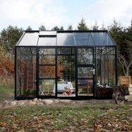 Växthus Spira 10,9 m², Svart, Ja