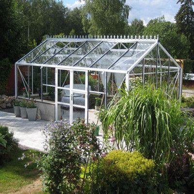 Växthus Spira Mur 15,0 m², Aluminium