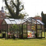 Växthus Spira Orangeri 21,5 m² Svart, Ja