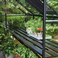 Till växthus Idyll Mur 18,8 m² Lamellbord