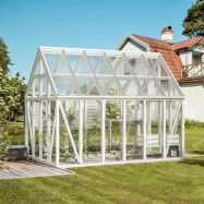 Kombinera växthus och uterum Växa trä 13,2 m²
