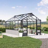 Växthus Juliana Premium Mur 13 m² Svart