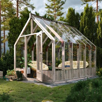 Växthus i trä Emilia Träväxthus 8,2 m²