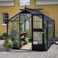 Växthus Juliana Compact 6,6 m², Antracitgrå, Säkerhetsglas