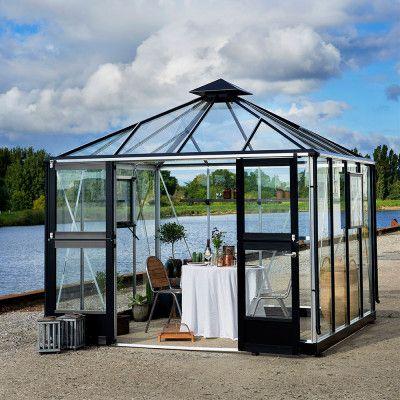 Växthus Juliana Oase 8,8 m², Aluminium, Nej