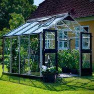 Växthus Juliana Premium 8,8 m², Aluminium, Säkerhetsglas