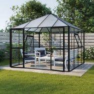 Växthus Jupiter med härdat glas - 8,4 m²