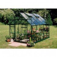 Växthus Magnum - 8,3 m² grönt med härdat glas