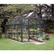 Växthus Magnum - 9,9 m² Svart med Härdat glas