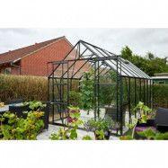 Växthus Magnum - Antracit med härdat glas 11,5 m²