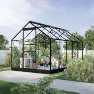 Växthus Neptunus - Svart 6,2 m²