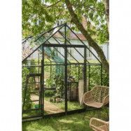 Växthus Qube 9,9 m² - Svart