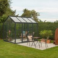 Växthus Spira 6,7 m², Aluminium, Nej