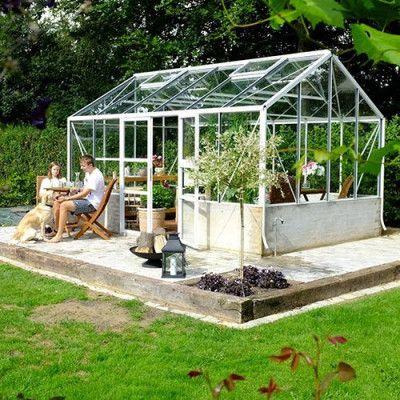 Växthus Spira Mur 13,1 m², Vit
