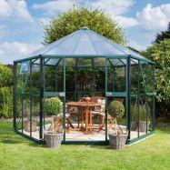 Vitavia Växthus/Lusthus Hera 9 kvm Grön Glas&Polykarbonat