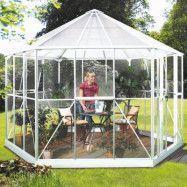 Vitavia Växthus/Lusthus Hera 9 kvm Vit Glas&Polykarbonat